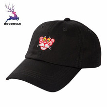 DOUDOULU Baseball Cap Black White Print Casual Animals Cap Cotton Solid Hat Snapback Hip-Hop Hat#ZH