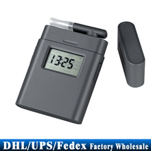 (wholesale) 20pcs Patent Alcometer Breathalyzer AT-838 Digital LCD Alcohol Tester Breath Analyzer Rotating Mouthpiece