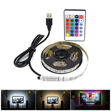 IP20 USB power supply USB LED strip light 3528 5050 SMD 5V 1M 2M 3M 4M 5M USB cable charger LED lamp For TV Background Lighting