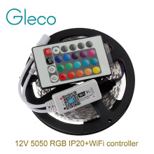 DC12V 5050 RGB LED Strip Set 60LED/m 5M LED Strip 5050 RGB LED tape + Mini 24Key WiFi RGB LED Controller