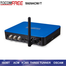 2017 Full hd satellite TV receiver Tocomfree S929ACM/T strong decoder with H.265 IPTV Nagra 3 and Nagra 4 work for south America