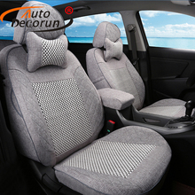 AutoDecorun Cover Seat Car For Jeep Patriot 2008 Car Seat Covers Supports Cushion Cover Sets Automobiles Interior Accessories(China)