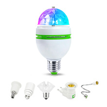 E27 RGB LED night light 110V 220V  85-265V LED bulb holiday led lamp E27 lamp base Holders Adapter EU US plug for home lighting
