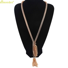 Diomedes Newest Creative Trendy Design Magnetic Necklace Pendant Tassel Maxi Necklace Hollow Statement Necklace Fine Jewelry(China)