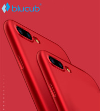 Blucub Soft Matte TPU Case for Apple iPhone 7 6 6S Plus Back Cover Sillicone Case Red Ultra Thin Cover Phone Protective Case 3#