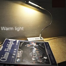 Adjustable Simple USB Soft Tube 8 LED Touch Night Light Kids Study Reading Warm White Lamp For Computer Notebook PC Keyboard