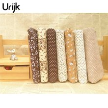 Urijk 7PCs/set 25*25cm DIY Patchwork Fabrics For Sewing The Cloth Quilting Cotton For Needlework Tissue Doll Bedding Textile(China)