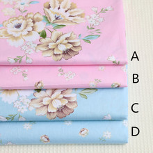160cm*50cm chic floral printed Cotton fabric 100% cotton clothes bedding quilt table cloth curtain sewing fabric tissue tecido(China)