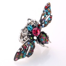Unique Vivid Bee Imitation Multi Color Acrylic Ring Elastic Stretch Adjustable Finger Ring Fashion Ball Party Jewelry