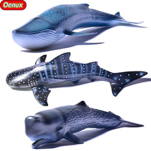 Oenux Sea Life Marine Animals Whale Shark Blue Whale Sperm Whale High Quality Action Figure Toy Ocean Animal Model For Kid Gift(China)