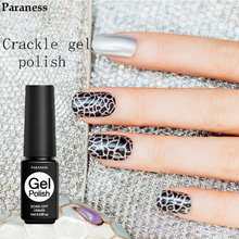 Paraness 12 Colors Crackle Gel Nail Polish Professional Semi Permanent Cracking Nail Gel Varnish Primer Soak Off UV Led Nail Art(China)