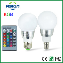 E27 LED RGB Bulb Lamp AC110V 220V 5W E14 Spot Light Dimmable Magic Holiday RGB Lighting IR Remote Control 16 Colors 270 Degree
