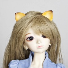 [wamami] 787# OOAK Light Brown Ear Horn With Magnetic 1/4 MSD&1/6 SD AOD DOLL BJD Dollfie(China)