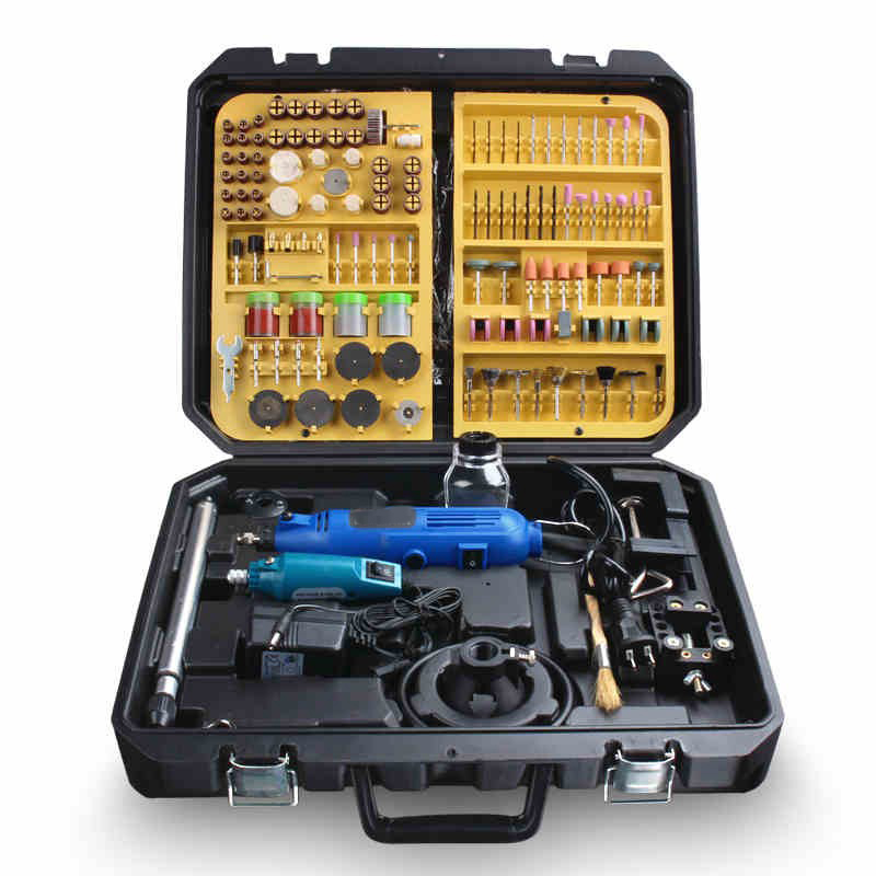 BDCAT double Electric Dremel Variable Speed Rotary Tool Mini Drill with Flex Shaft and 256pcs Power Tools accessories set<br>