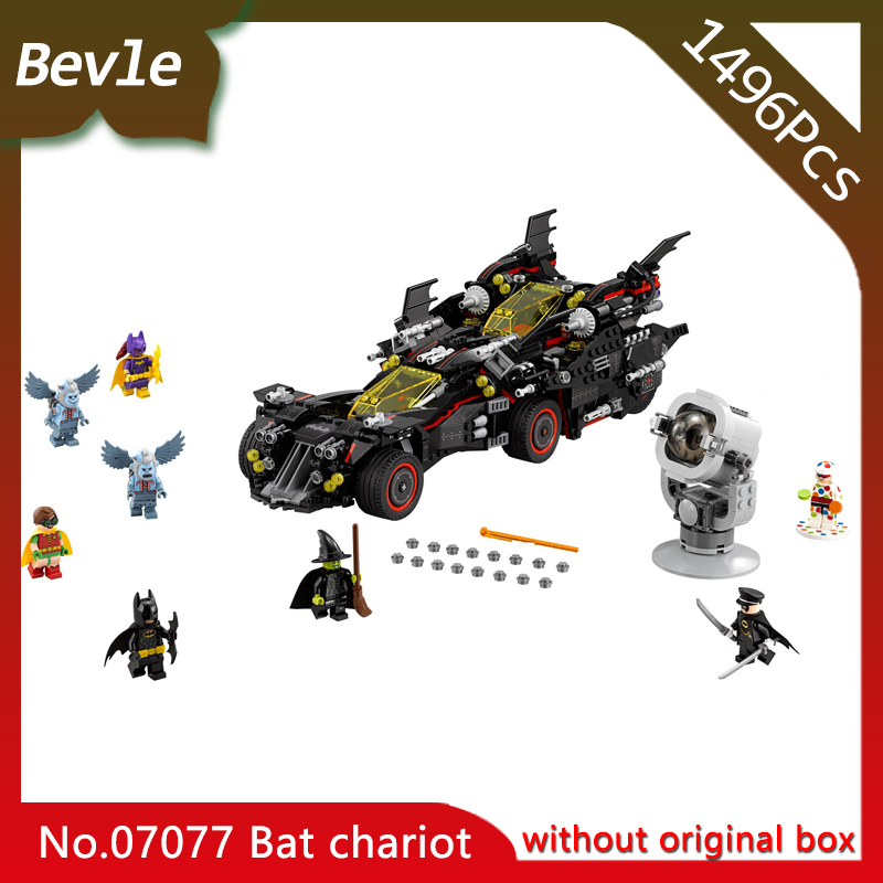 LEPIN 07077 1496Pcs Movie Series Bat Chariot Deformation Model Building Blocks set Bricks Toys For Children with 70917<br>