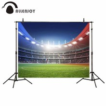 Allenjoy Vinyl material photography Blue Red French Football Stadium photography backdrops camera fotografica photo studio props
