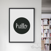 Cartoon Hello Quote Canvas Art Print, Wall Pictures for Home Decoration, Painting Poster Frame not include FA201