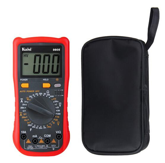 Free Shipping AC DC LCD Display Professional Electric Handheld Tester Digital Multimeter with bag<br><br>Aliexpress