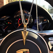 Mcllroy Geometric Triangle Necklaces&Pendants For Men Stainless Steel Gold Male Pendant Necklaces Prayer Jewelry Choke overwatch(China)