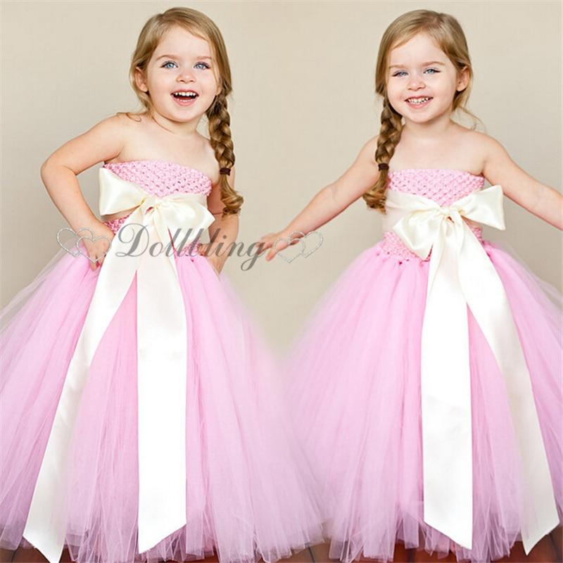 Ellies Bridal Light Pink Princess Burlap Tulle Mesh Embellished dress Teen girl Vintage tutu dress 1033<br>