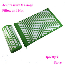 Acupressure Pillow and Mat Body Foot Massage Spike mat nail yoga mat kit Back and Neck Pain Relief massage(China)