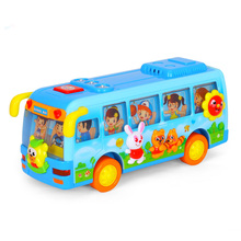 WISHTIME Baby Playtime Musical Fun School Bus Toy with Flashing Lights & Shakes & Swings Side to Side Boy and Girl Kid Gifts