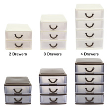 Drawer Durable Plastic Office Table Desktop Debris Cosmetic Drawer Style Holder Storage Box J2Y