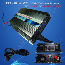 22~60v wide voltage DC input,500w PV grid tie inverter,for solar with MPPT function,CE,ROHS,high quality,low price,low shipping