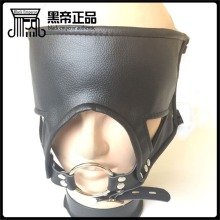 Buy Leather Harness Fetish Mask Ring Gag Adult Games Bondage Restraints Slave Bdsm Hood Blindfold Mouth Gag Sex Toys Couples