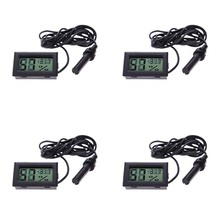 Buy 4PCS Digital LCD Hygrometer Thermometer Temperature Humidity Gauge Meter Black for $8.88 in AliExpress store