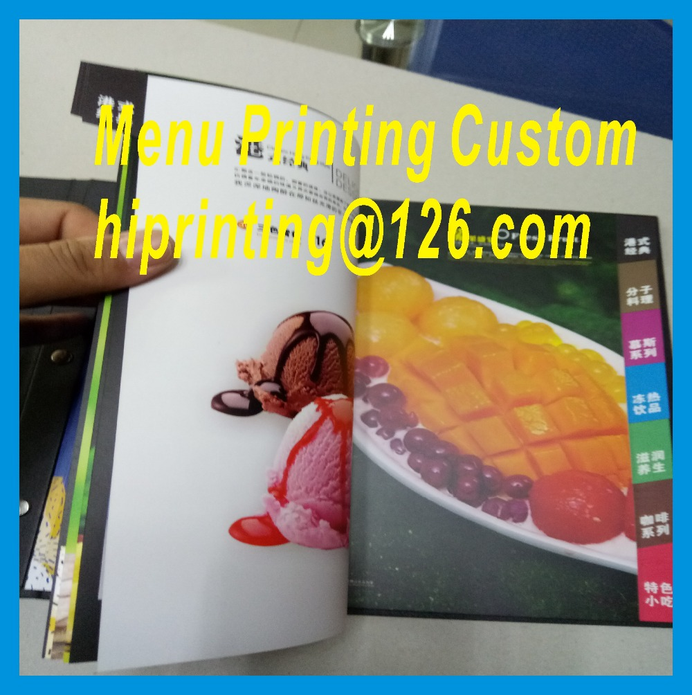 Factory price hardcover restaurant menu printing services<br>