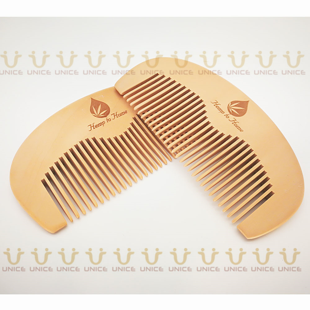 100pcs/lot Your LOGO Customized Private Label Combs Hair Beard Wood Comb for Men & Women for Barber Shop Retail Case 40