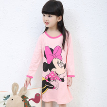 3-11Y New 2017 Autumn & Winter Style Girl Nightgown Children Cloth Girls Sleepwear Kids Girls Princess Girl Home Clothing(China)