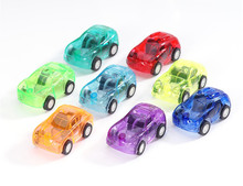 6pcs Cute Candy Color Toy Cars Best Christmas birthday Gift for Child Plastic Mini Car model kids toys for boys and girls