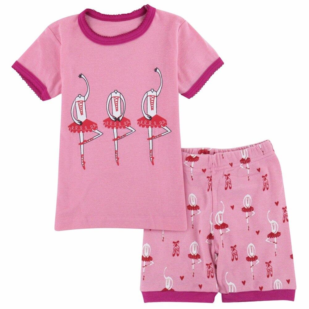 eceeda147a5e Pajamas For Girls Summer Ballet Pijama Child Home Suit Pyjamas Kids ...