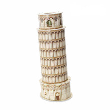 Medium Size Cubic Fun 3D Paper Puzzle Italy Leaning Tower of Pisa Model C706H 13pcs 10*10*26CM(China)