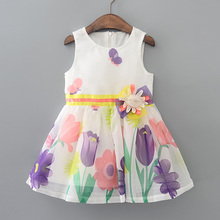 Hurave England Style Summer Girls' Dresses Fashion Party Cotton Dresses Kid Princess Dress Brands Children dress clothes