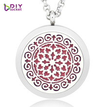 Excellent design 30MM Aromatherapy floating locket DIY perfume necklace essential oil diffuser fragrance locket necklace