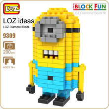 LOZ Blocks Nano Block Minion Diamond Building Blocks Bricks Pixels Figure Action Figure Anime Plastic Assembly Toys Model 9309