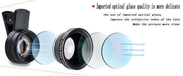 APEXEL Phone Camera Lens Kit Fish Eye Wide Angle/macro Lens CPL Kaleidoscope and 2X telephoto zoom Lens 7in1 for iPhone SAMSUNG 3