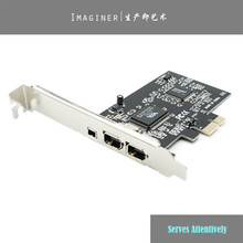 NEW PCIe with 6Pins PCI-E FIREWIRE 400 IEEE 1394 CARD VIA CHIPSET WORK WIN7 MAC OS Pci-e To 1394 A B WITH CABLE, VIA Chipset.