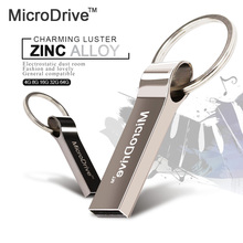 USB 2.0 Metal Flash Pen Drive 32GB 64GB USB Flash Drive Pendrive 16GB 8GB External Storage Memory Stick with key ring(China)