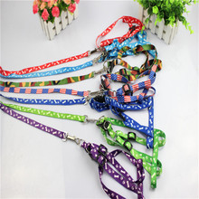 Colorful Dog Harness for Small Size Pets Printed Pattern Random Color Leads for Dogs E-22