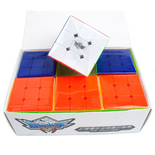 6 Pcs/Box Cyclone Boy Feiwu Stickerless 3x3x3 Magic Cube Speed Puzzle Game Cubes Educational Toys Gifts for Kids Children(China)