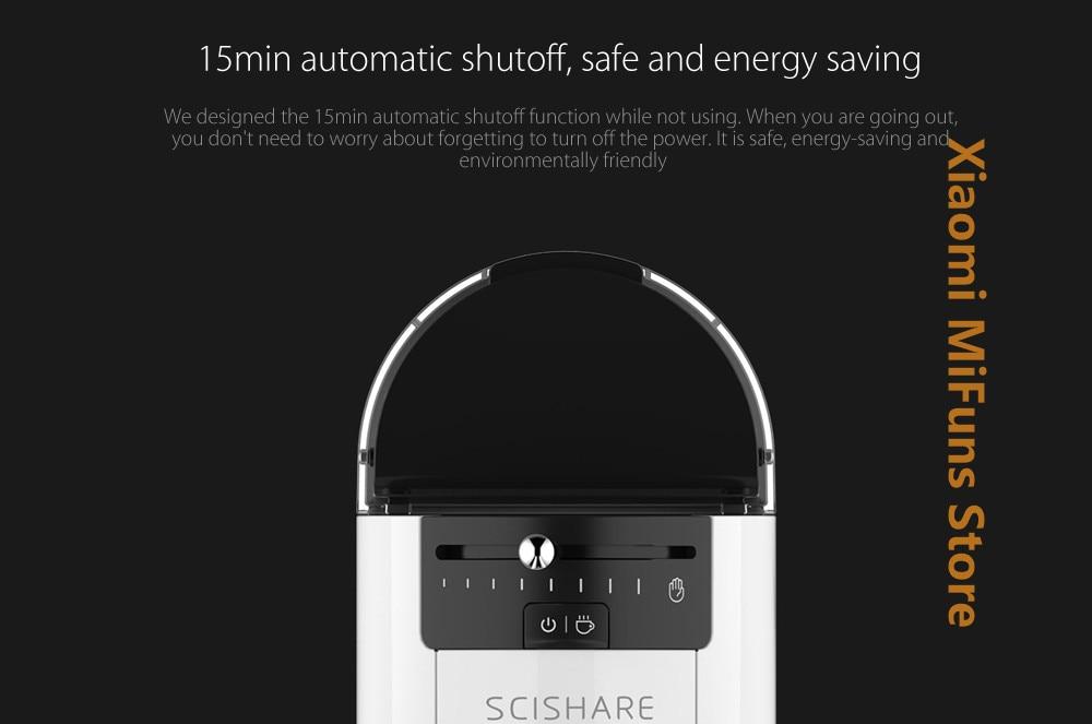 Xiaomi SCISHARE Capsule Espresso Coffee Machine 9 Level Concentration Preset Compatible With Multi-brand Capsules