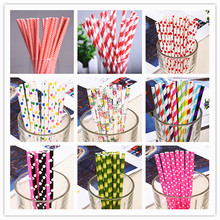 Paper Straws Birthday Party Decorations Kids Environmental Creative Drinking Paper Straw Wedding Table Decoration Party Supplies