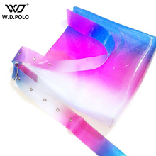 WDPOLO PVC shinning women big size fashion tote hot sell girls shoulder bag bling bling simple design neon color chic bags C113(China)