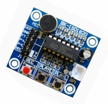 10pcs/lot ISD1820 voice recording module voice module board play sound module board with microphone