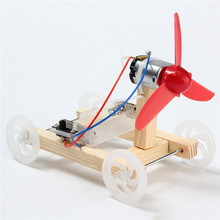 New DIY Single-wing Wind Car Assembly Model Kit Developmental Toys Science Experiment Educational Toys Gift For Children(China)