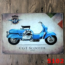 Vintage Motorcycle  decorative metal painting wholesale custom bar shop shop decoration tin sign ,metal tin painting